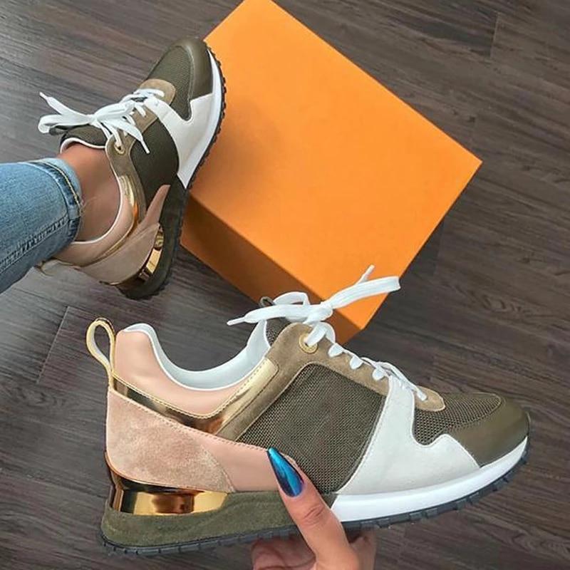 Women Sneaker Autumn Casual Breathable Suede Leather Platform Sport Shoes Fashion Running Walking La