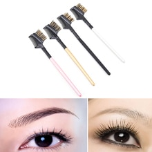 1PC Fashion New 2 in 1 Double Eyebrow Comb Brushes Women Dual Eyebrow Comb Eyelash Makeup Beauty Bru