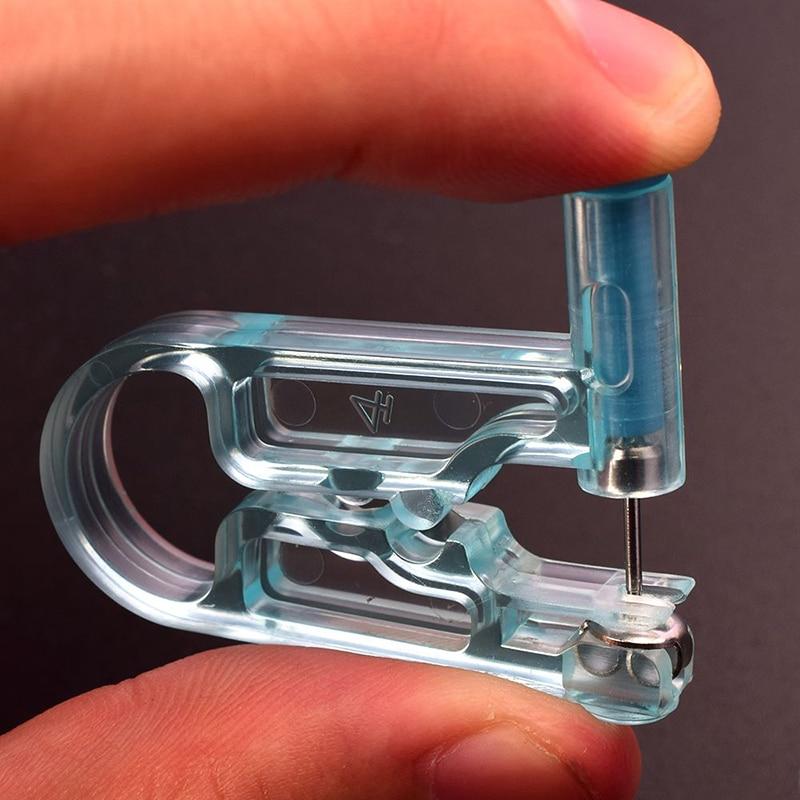 New Disposable Safe No Pain Ear Piercing Kit Sterile Ear Hole Piercing Gun Tool With Ear Stud Asepsis Pierce Body Piercing TSLM1