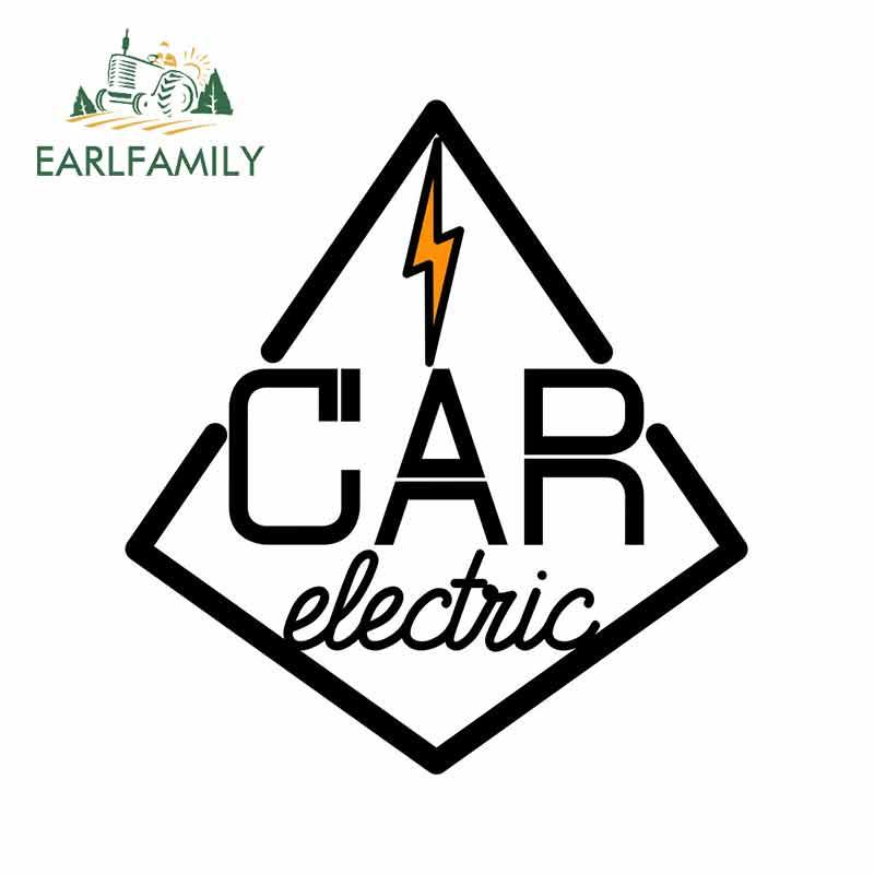 EARLFAMILY 13cm x 11,9 cm para coche eléctrico de Color Vintage calcomanía de camión parachoques ventana Material de vinilo accesorios de coche pegatina a la moda