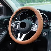 car steering wheel cover four seasons general fashion new style leather car steering wheel cover car accessories handle cover