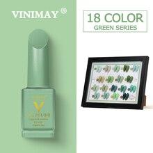 VINIMAY 18 ensemble de couleurs vernis à ongles Gel vert vernis à ongles UV vernis à ongles vernis à ongles