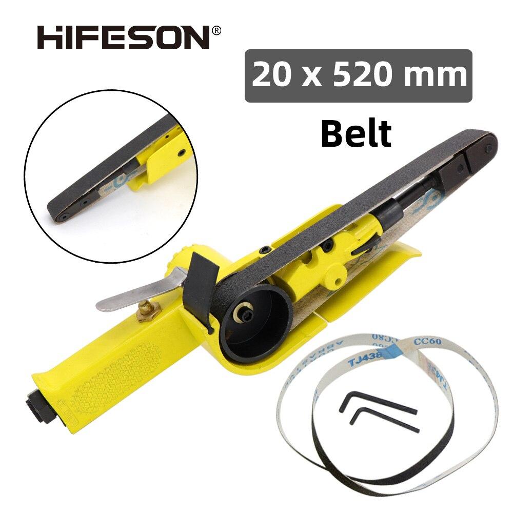 HIFESON الهواء حزام ساندر حزام رملي محول هوائي لتقوم بها بنفسك حزام رملي ماكينة طحن زاوية أداة أجزاء لحام 20*520 مللي متر