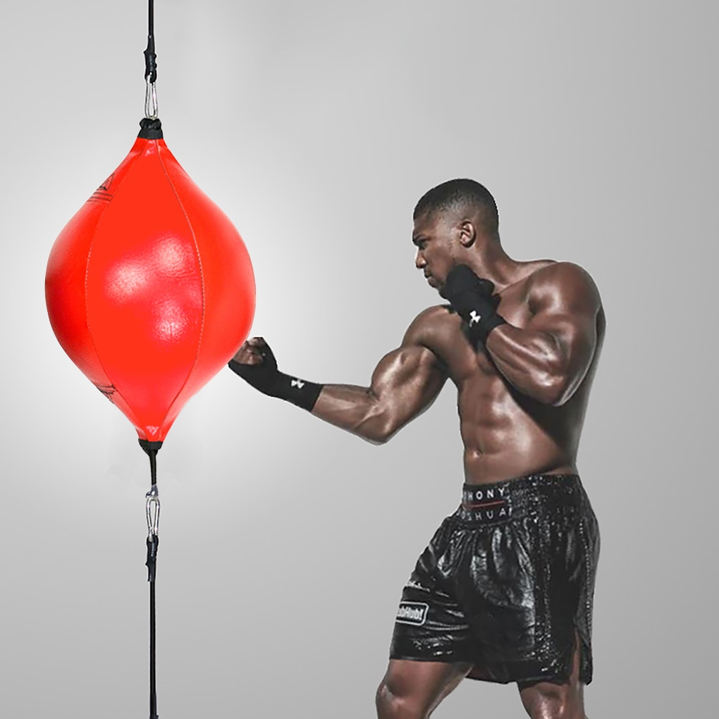 Полиуретановый боксерский грушевидный мяч, боксерский мешок, тренировочные скоростные мячи для тренировок, скоростной мяч для тайского бо...