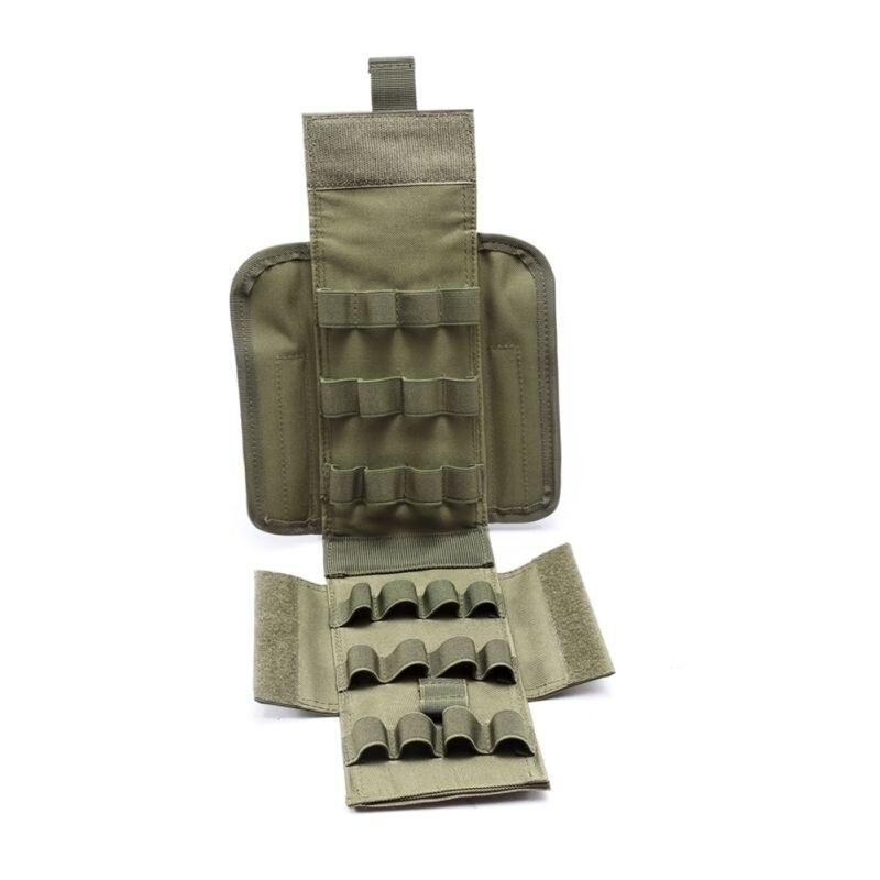 Caliente táctico útil 25 cartuchos de calibre 12 redondos recargar la bolsa de la revista Mag