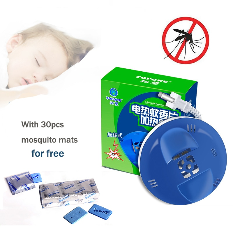 Electric Mosquito Mat Heater with 30pcs mats Mosquito Repellent Incense Heaters Anti Mosquito Killer Insect Killing Repeller