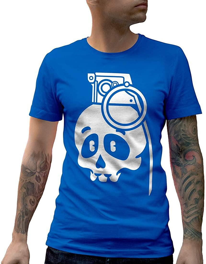 Skull Grenade Army Mens Crew Neck T-Shirt New Arrivals Tee Summer 2020 Pure Cotton Breathable Short Sleeve Tshirt