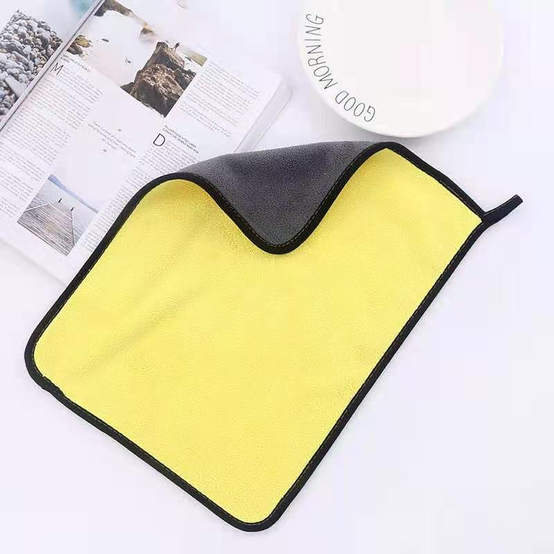 A towel for cleaning,Coral fleece, wipe car towel, thicken, wash car, clean,Double sided,Outdoor, home, universal enlarge