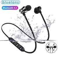 magnetic wireless bluetooth headset xt11 music headset neckband sports headset with microphone for iphone samsung xiaomi headset