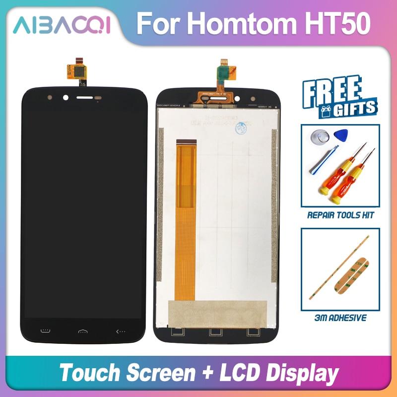 AiBaoQi 100% gwarancji 5.5 cal dotykowy ekran + 1280X720 wymiana montaż wyświetlacza lcd dla Homtom HT50