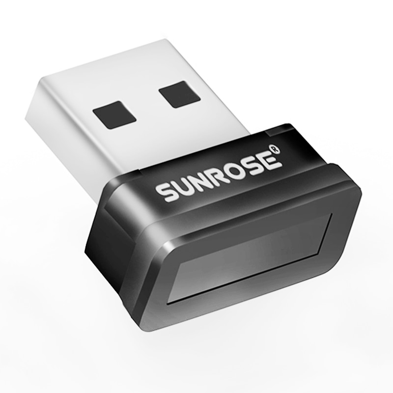 SUNROSE-قارئ بصمات الأصابع USB ، لنظام التشغيل Windows Hello ، تشفير لـ Win10
