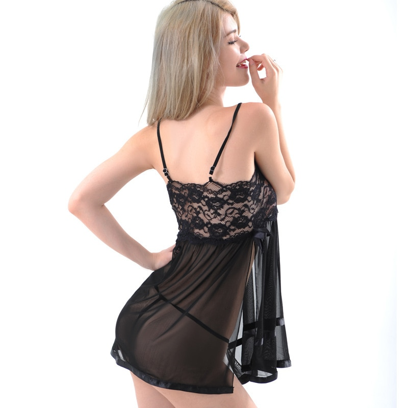 Women Sexy Robe Transparent Femme Ladies Erotic Clothing for