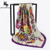 jifanpaul new ladies scarf 2020 autumn and winter new big square scarf splash ink painted floral pattern scarf women