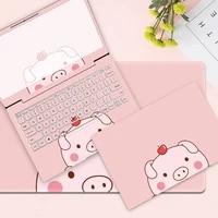 Nette madchen kawaii rosa laptop aufkleber notebook haut Laptop abdeckung   tastatur   bildschirm grenze aufkleber PVC fur HP ASUS dell Lenovo MSI