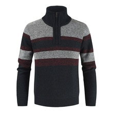 Brand Mens Sweaters Autumn Winter Warm Cashmere Wool Half Zipper Cardigan 2021 Sweaters Man Casual K