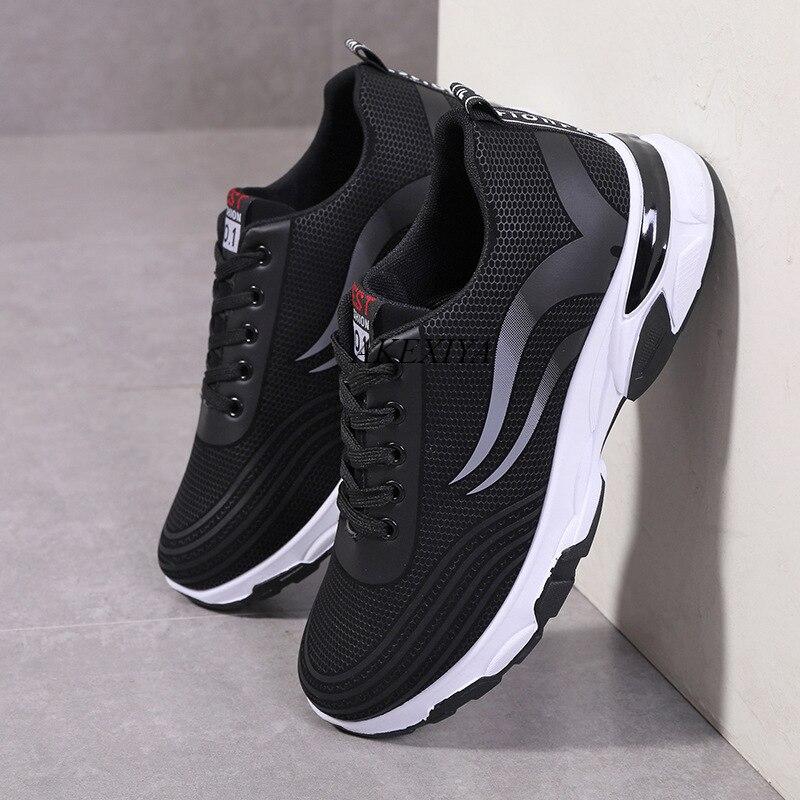 Tênis de Corrida Resistente ao Desgaste ao ar Sapatos Casuais Masculinos Tênis Leve Confortável Masculino Antiderrapante Livre Caminhada Mans Calçado