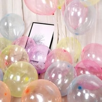 1020pcs 12inch colorful transparent crystal latex balloon for wedding birthday party decor globos supplies clear helium airball