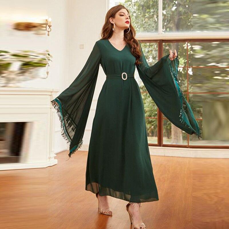 Dubai Abaya Turquía Moda musulmana vestido Ramadan Eid Mubarak ropa Islam Vestidos...