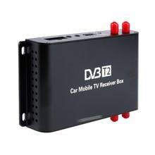 H.265 MPEG-4 Europe DVB-T2 Car Digital TV Tuner DVB T2 Car Mobile TV Receiver Box USB 1080P HDMI 4 Amplifier Antenna Max 180km/h