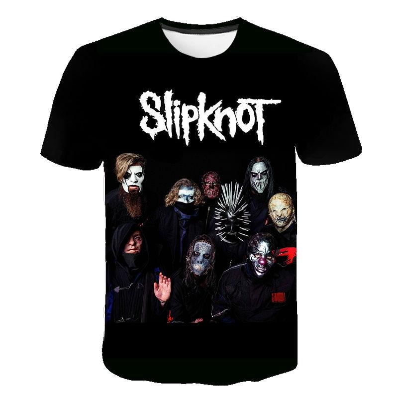 Summer Casual T-shirt 3D Printed Rock Punk Rock Band Slipknot T Shirts Men Women Punk Hiphop Streetwear Tshirts Fashion Tops Tee