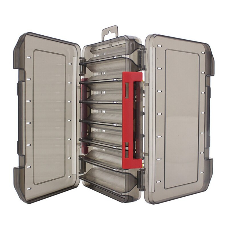 Caixa de isca de pesca caixa de equipamento de dois andares caixa de sub-isca portátil isca de pesca caixa de armazenamento de equipamento de dupla face caixa de pesca