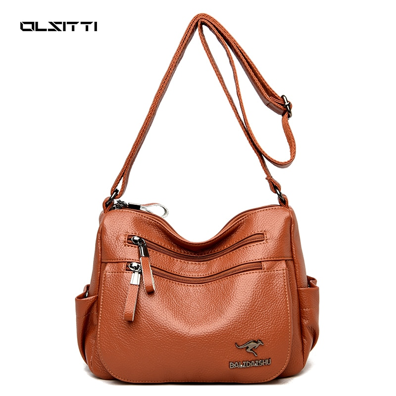 High Quality Pu Leather Shoulder Bags for Women 2021 Luxury Fashion Casual Women's Designer Crossbod