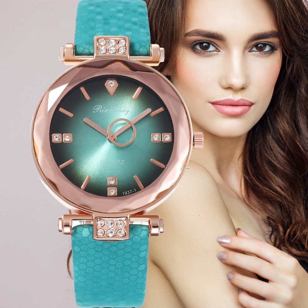 Women Watches Leather Fashion Style Casual Simple Black Green Ladies Bracelet Clock Alloy Quartz Wrist Watch Relogio Feminino starking luxury casual new relogio couple watches pair men and women quartz slim simple style leather wrist watch hodinky clock