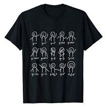 Vogue Elegante Tshirt Volwassen Algebra Dans Grappige Foto Math Houding T-shirt Tops Plus Size Hip Hop Vrouw T-shirts Футболки