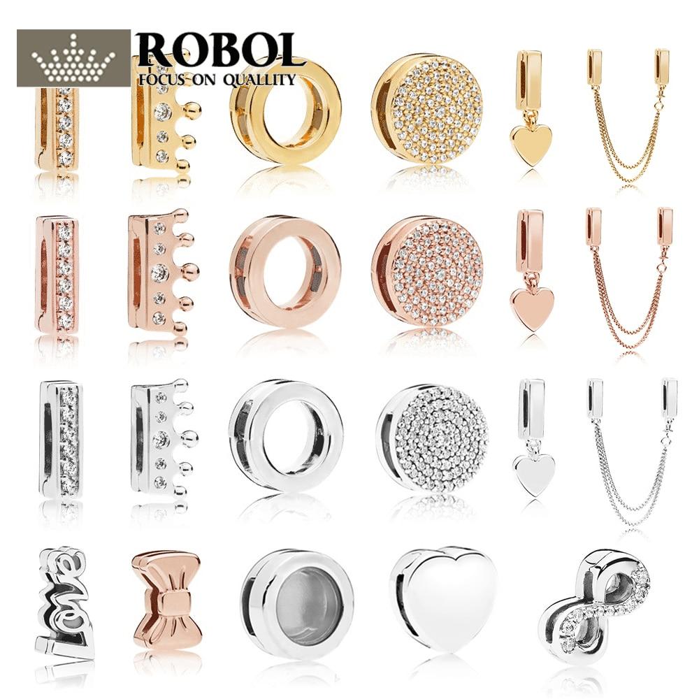 Pdb 01 o rllen 100% 925 prata restatement clipe charme faísca zircônia cúbica ternos diy original 11 pulseira jóias deslumbrante