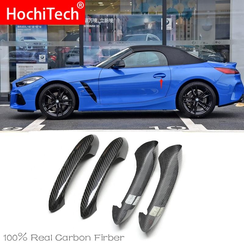 Alta calidad para BMW Z4 G29 M40i sDrive 25i M 2019 2020 accesorios para coche pomo de puerta de fibra de carbono el acabado Exterior cubre