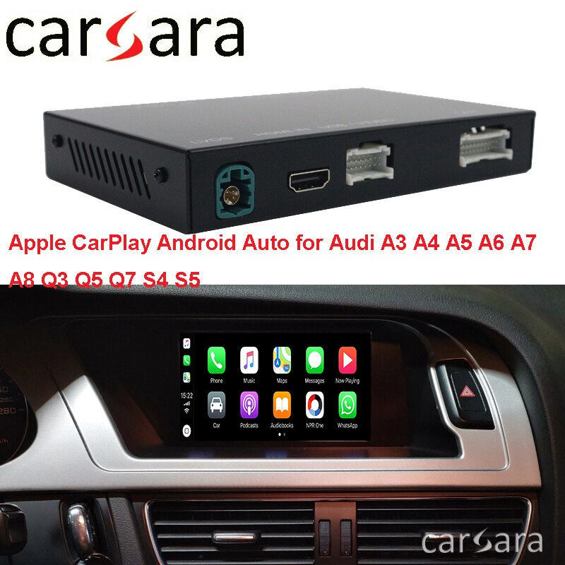 2020 WIFI Bluetooth CarPlay Androidauto para una U D A3 A4 A5 A6 A7 A8 Q3 Q5 Q7 S4 S5 MMI sistema