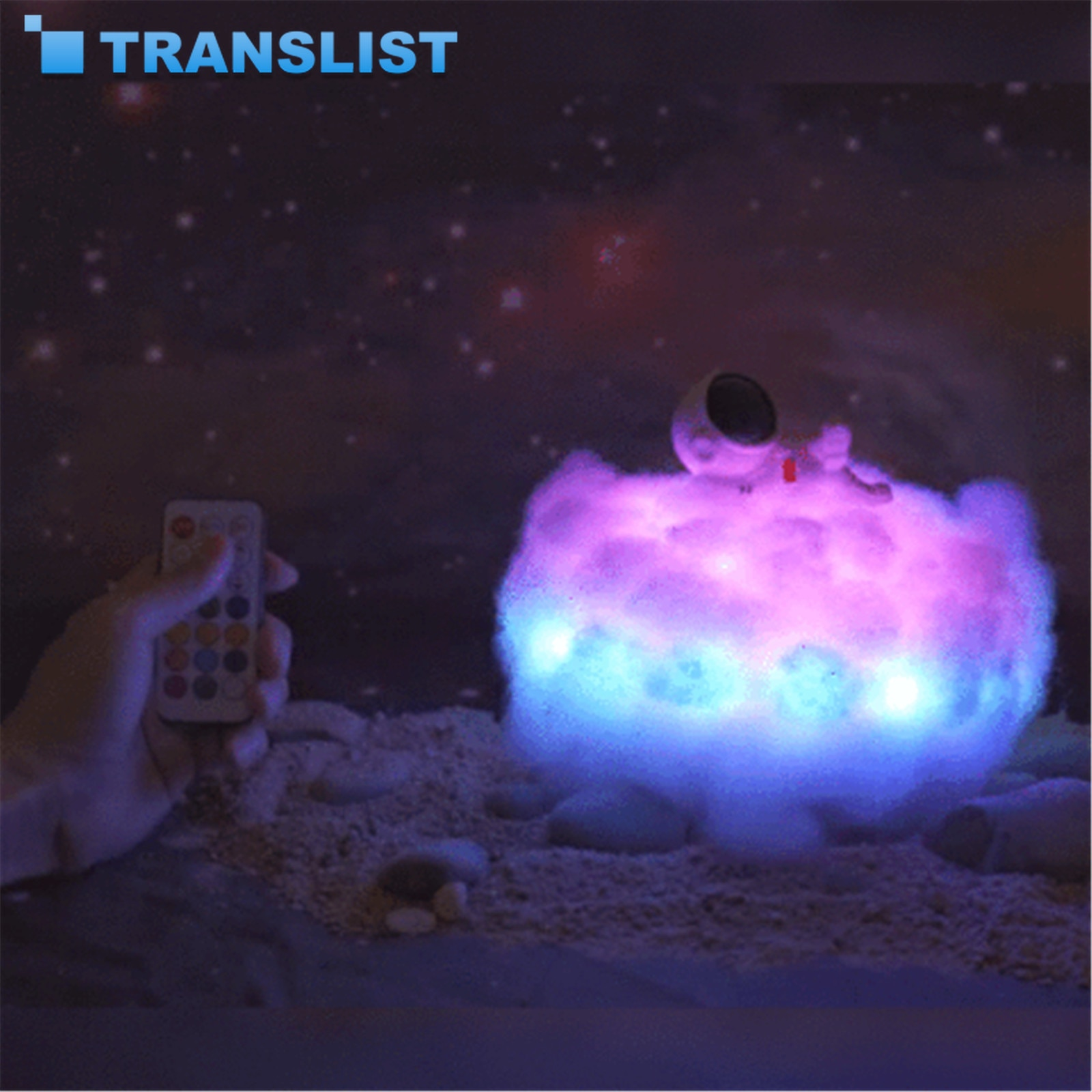 New Dropship- Special LED Colorful Clouds Astronaut Lamp With Rainbow Effect As Children's Night Light Creative Gift In 2020 enlarge