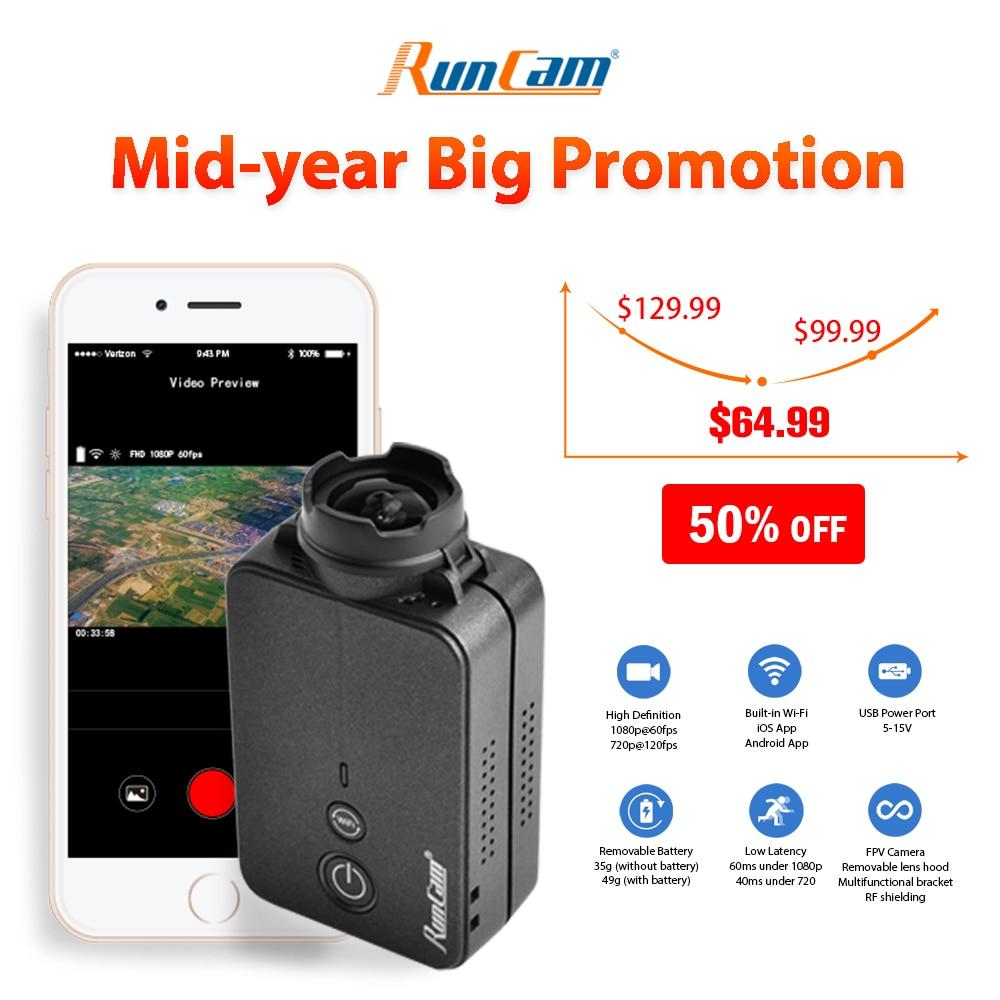 Get RunCam 2 RunCam2 4K 1080P HD Wing Drone Action Sport Camera WiFi APP Recording Quadcopter Accessories
