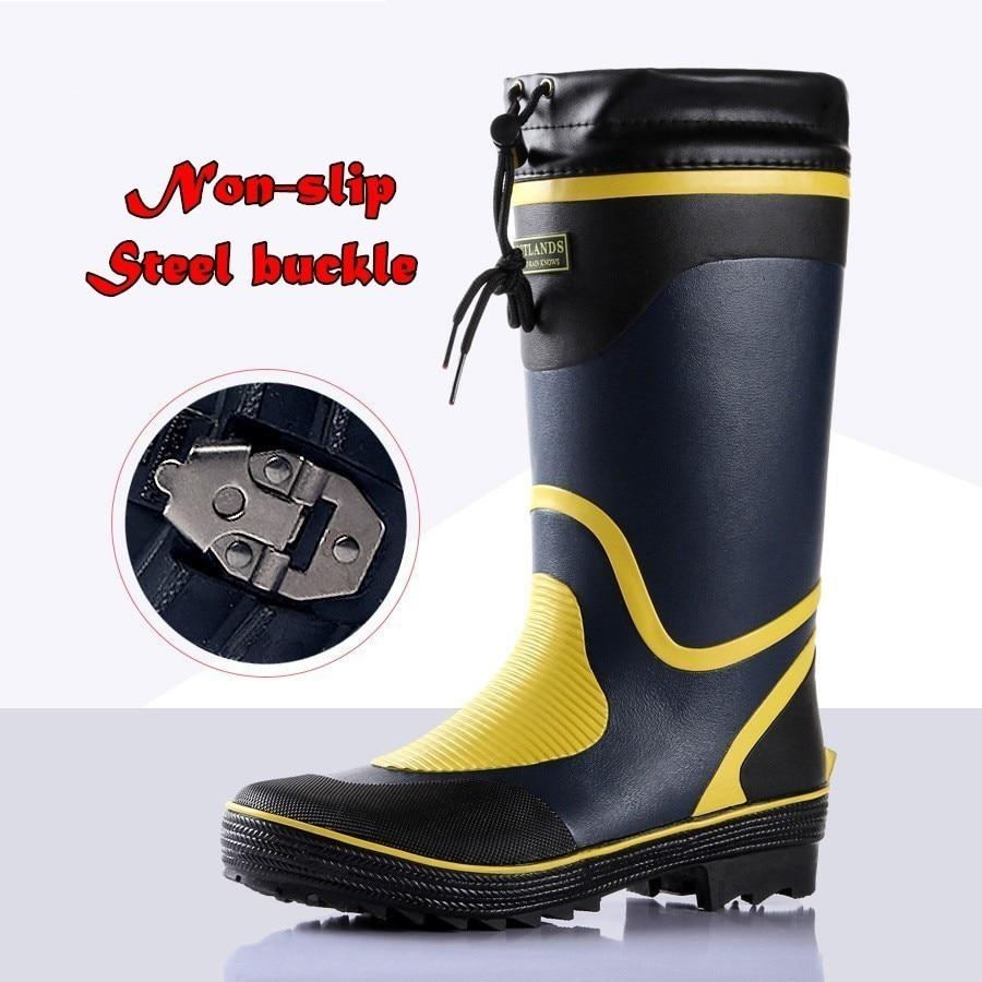 أحذية مقاومة للماء ذات نعل فولاذي مطاطي طبيعي ، أحذية عالية الأنبوب مقاومة للماء ، جليد غير قابل للانزلاق ، لحام ، صيد السمك ، الخوض ، الحديقة...