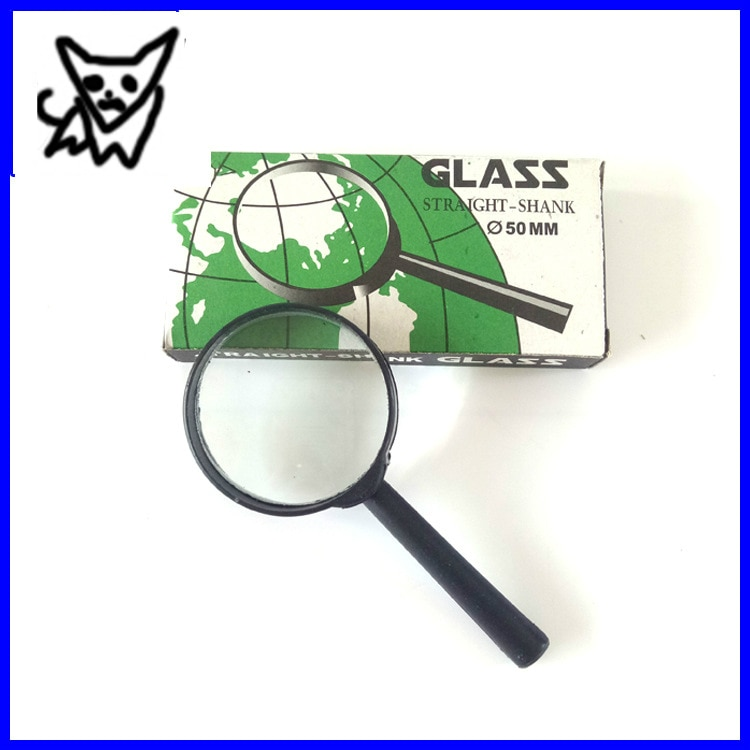 Students Physics Experimental Portable 5cm/50mm Mirror High-definition Old Man Reading Handheld Magnifier Lens