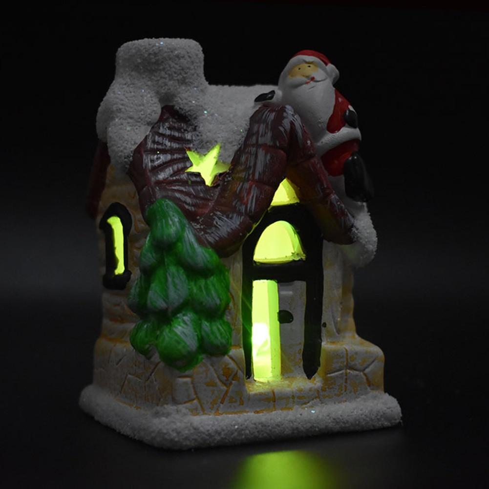 2020 Creative Personality Interesting Resin Christmas Tree Ornaments Huts Luminous Christmas Tree Ornaments Decorated Window