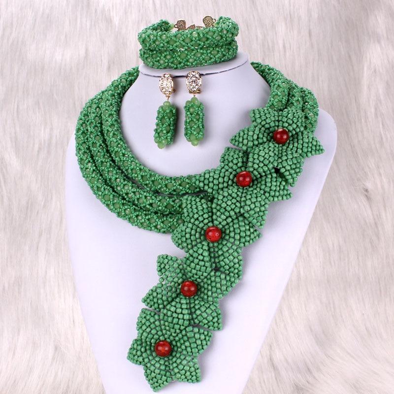 Dudo Store-طقم مجوهرات على شكل زهرة هندية ، عقد وأقراط أفريقي ، زفاف نيجيري ، صناعة يدوية ، لون مخصص
