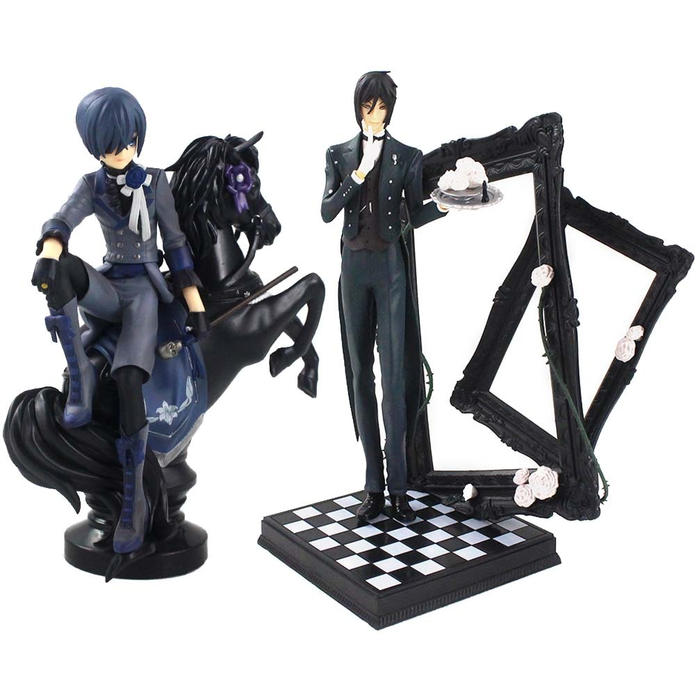 Anime Black Butler Figur Michaelis Sebastian Ciel Phantomhive 1/7 Skala PVC Action Figure Sammeln Modell Spielzeug