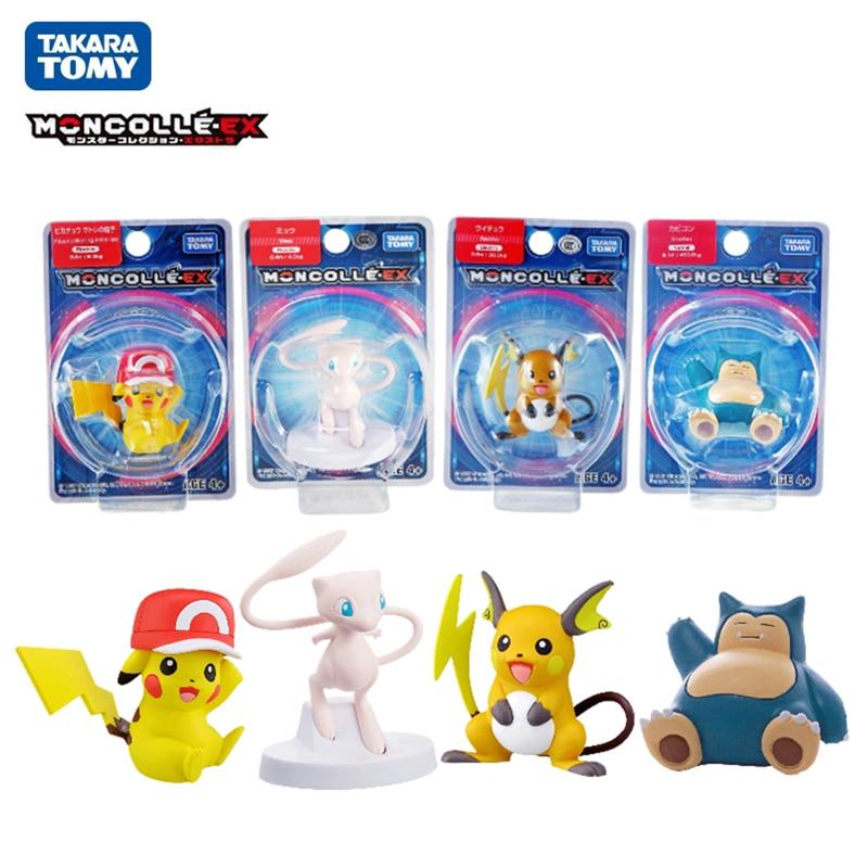 Фигурки TAKARA TOMY, Покемон, меч и щит, фигурки Пикачу, Mew, храп, райчу, аниме, экшн-фигурки, модели, куклы, игрушки, подарок для детей