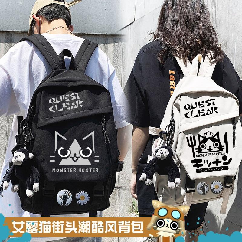 Monster Hunter Women Boy Backpack Travel Mesh Female Student College School Bag Men Girl Cool Laptop Backpack Male Book Bags
