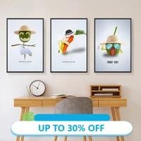 Affiches de peinture sur toile  decoration abstraite de cuisine de fruits  image dart mural pour decoration de salon  decoration de maison