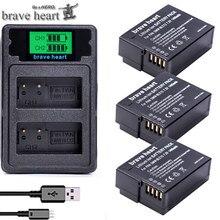 DMW-BLC12 BLC12E BLC12PP DMW BLC12 batterie + double chargeur/câble USB pour Panasonic Lumix FZ1000, FZ200, FZ300, G5, G6, G7, GH2, DMC-GX8
