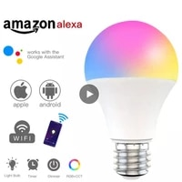 Tuya WiFi Smart Light Bulb E27 LED Lamp RGB Work With Alexa Google Home Dimmable Timer Function RGB CCT Multi Color Smart Bulb