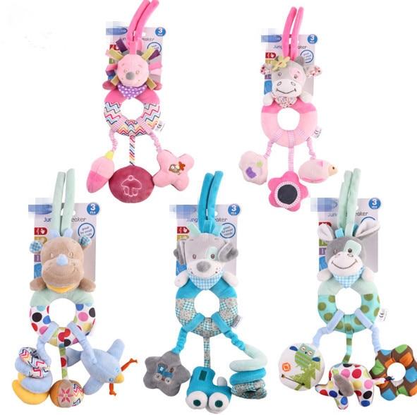 1PC bebé musical juguete educativo de aprendizaje para bebé niños colgando cuna juguete de peluche cochecito