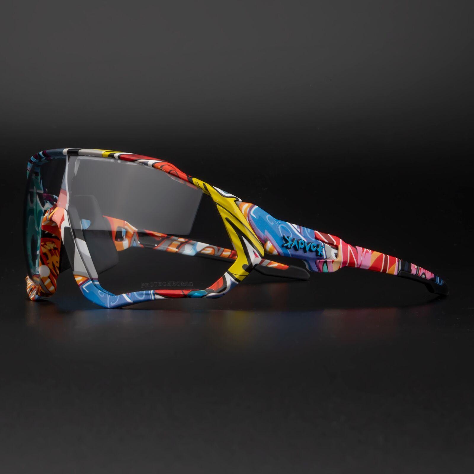 Kapvoe Photochromic Cycling Sunglasses Men Women Sport Road Mtb Mountain Bike Bicycle Glasses Cycling Glasses Eyewear Goggle