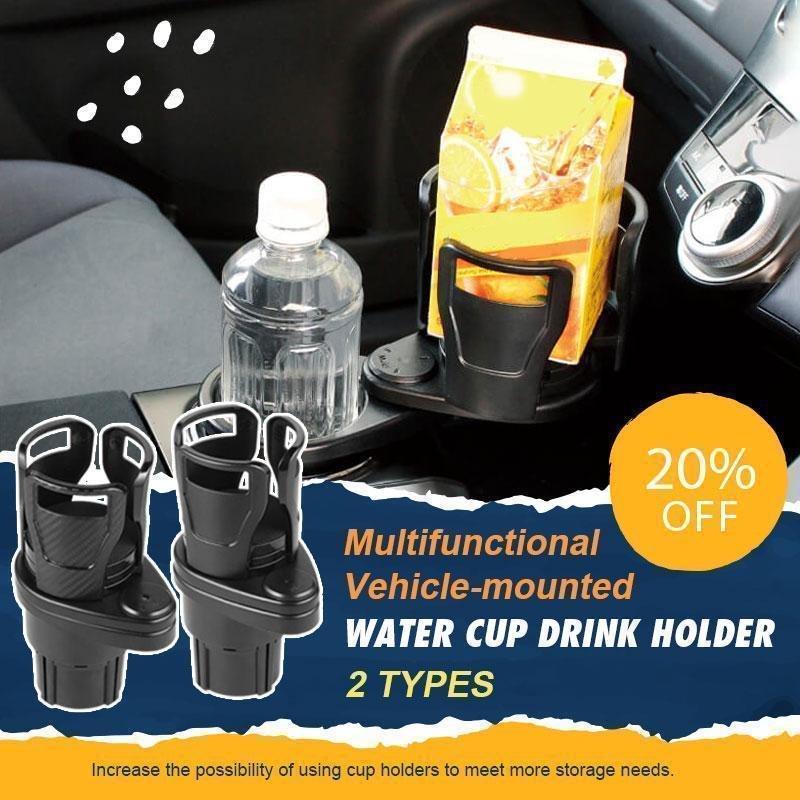 All Purpose Car Cup Holder And Organizer Multifunctional Vehicle-mounted Stand Water Cup Adjustable Base Drink Bottle Rack