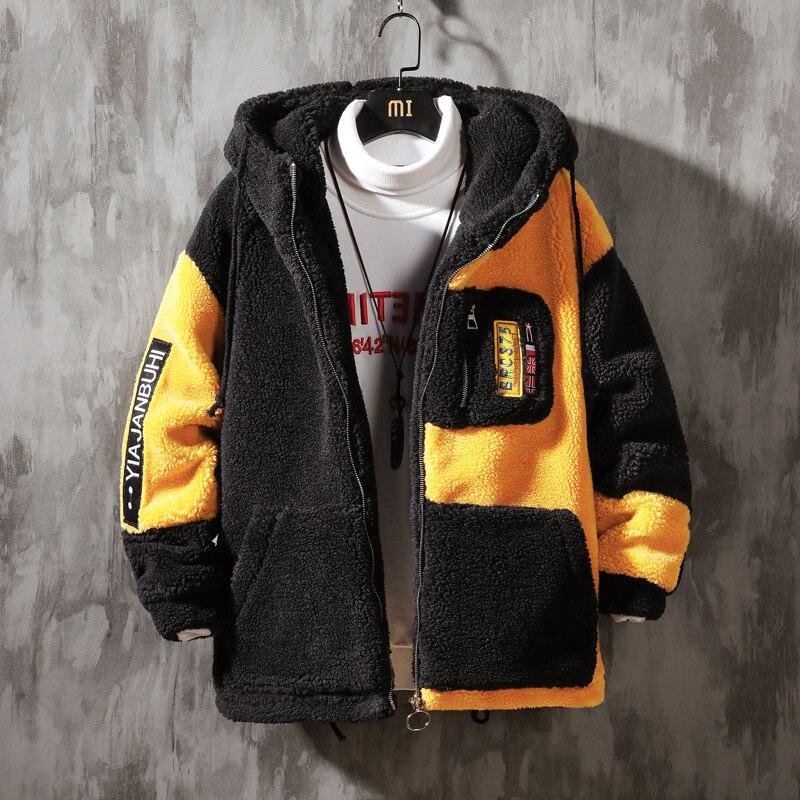 Брендовые мужские куртки, флисовое пальто, мужская теплая куртка, модные уличные толстые зимние куртки в стиле пэчворк для мужчин