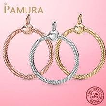 Offre Spéciale 925 argent Sterling O pendentif fit Original Pamura collier bricolage perles breloque bijoux cadeau