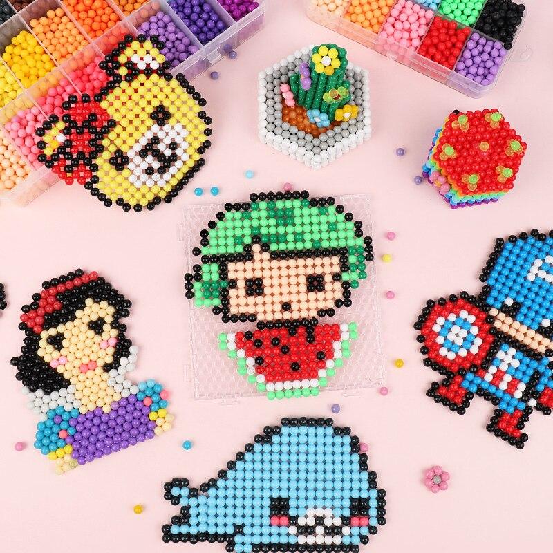 Детские креативные Волшебные бусины, игрушки ручной работы «сделай сам», набор волшебных бусин-пазлов с распылением воды, подарки для детей