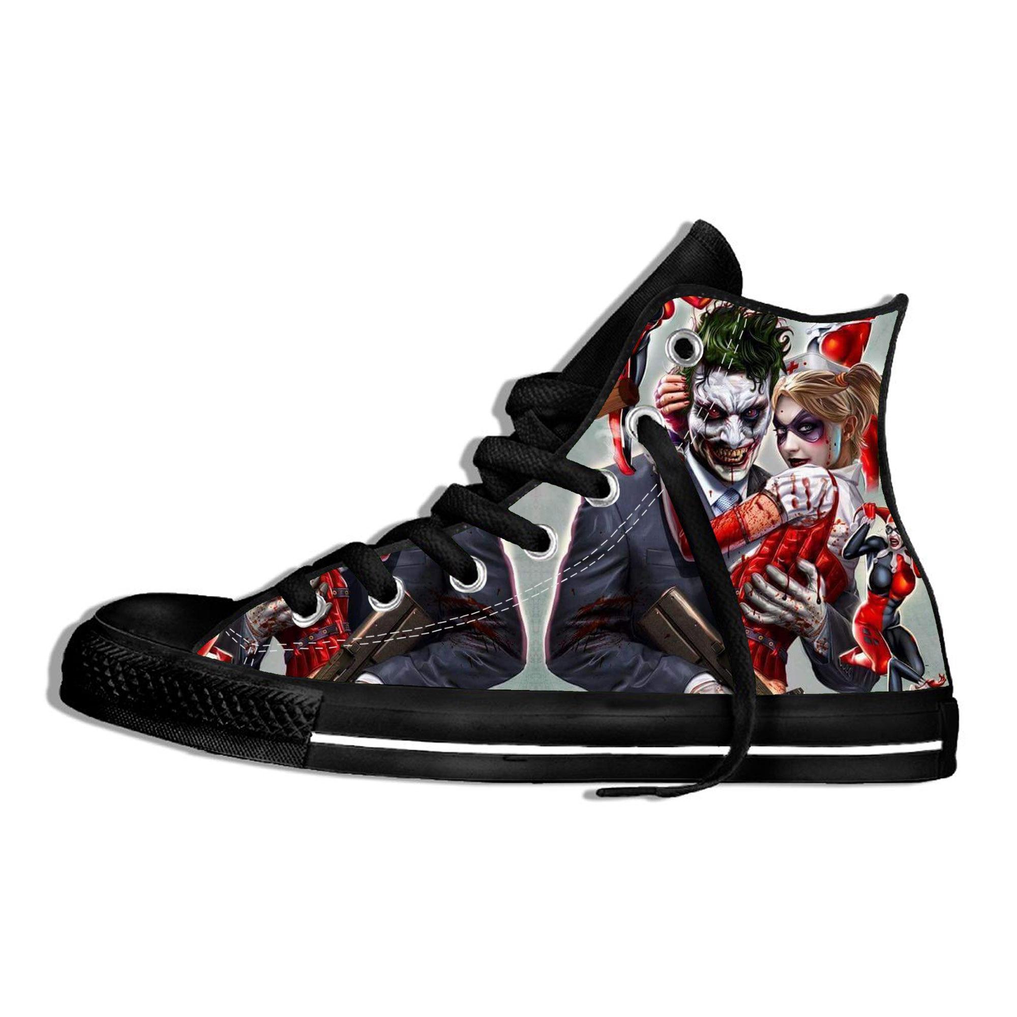 ¡Novedad de 2020! Zapatos de lona de Anime del Joker y Harley Quinn, zapatos deportivos para hombres y mujeres y adolescentes, zapatos de uso diario e informal para viajes al aire libre